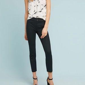 Anthropologie essential slim black trouser 12